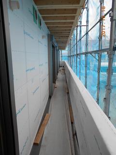 ⑦.外壁防湿シート貼り工事.JPG